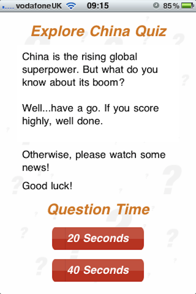 Screenshot Explore China – 100Q Quiz
